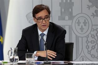 Salvador Illa durante la rueda de prensa posterior al Consejo de Ministros   Pool Moncloa/J.M.Cuadrado