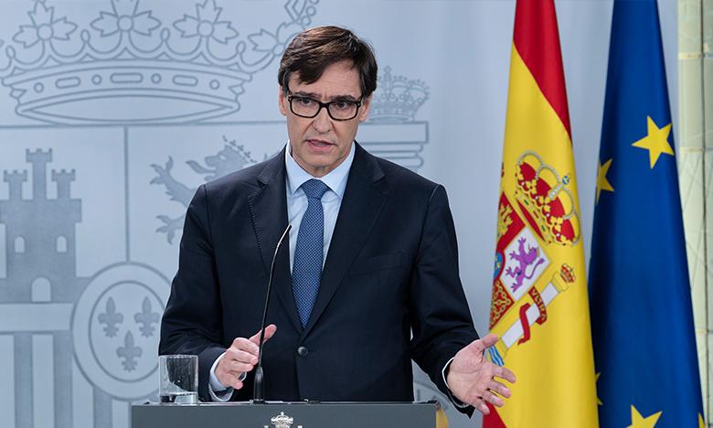 Pie de foto: La Moncloa, Madrid, martes 24 de marzo de 2020 El ministro de Sanidad, Salvador Illa, durante su intervención en la rueda de prensa posterior al Consejo de Ministros.