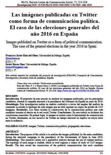 Las imágenes publicadas en Twitter como forma de comunicación política. El caso de las elecciones generales del año 2016 en España
